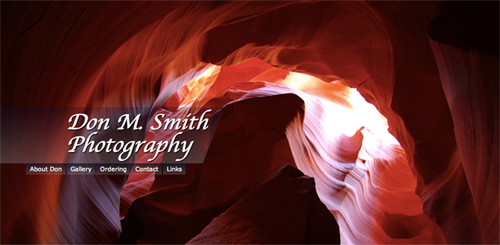 Screen grab of Don M. Smith website homepage